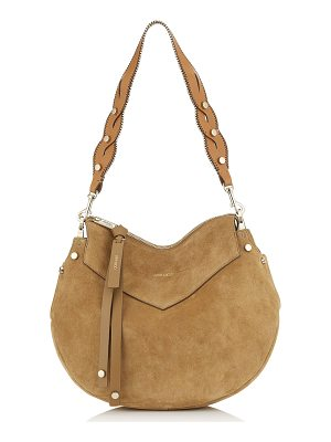 Jimmy Choo ARTIE Hazel Suede and Cuoio Leather Mix Shoulder Bag