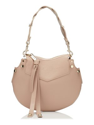 JIMMY CHOO Artie Mini Ballet Pink Nappa Leather Shoulder Bag