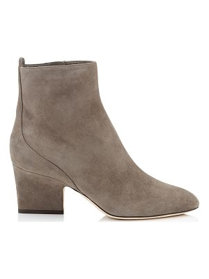 JIMMY CHOO Autumn 65 Mink Suede Round Toe Booties