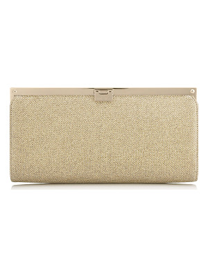 Jimmy Choo CAMILLE Gold Lamé Glitter Clutch Bag