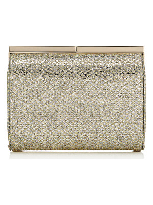 Jimmy Choo CATE Champagne Glitter Fabric Clutch Bag