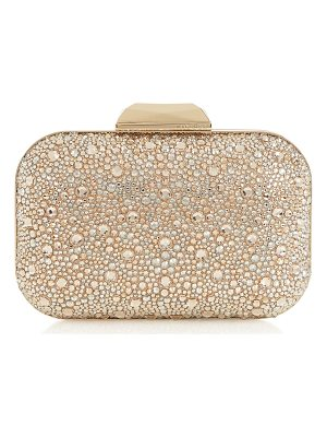 JIMMY CHOO Cloud Golden Mix Crystal Covered Clutch Bag