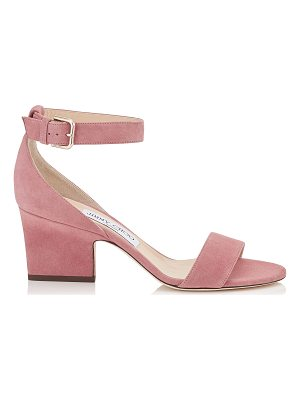 Jimmy Choo EDINA 65 Vintage Rose Suede Wedges