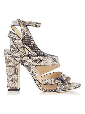 Jimmy Choo FALCON 100 Nude Elaphe Sandals