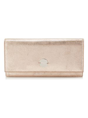Jimmy Choo FIE Ballet Pink Metallic Leather Clutch Bag
