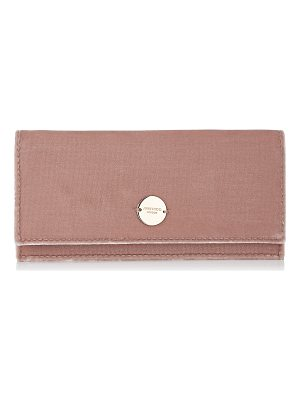 Jimmy Choo FIE Ballet Pink Velvet Clutch Bag
