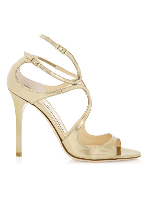 Jimmy Choo LANG Gold Mirror Leather Sandals