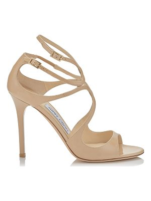 JIMMY CHOO Lang Nude Patent Sandals