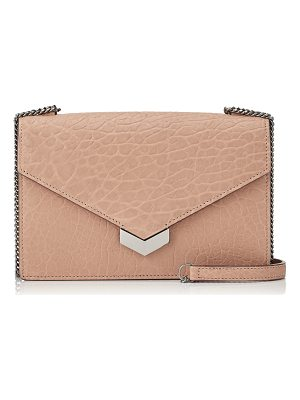 JIMMY CHOO Leila Ballet Pink Grainy Leather Cross Body Bag