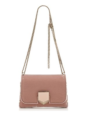 Jimmy Choo LOCKETT PETITE Ballet Pink Velvet Shoulder Bag