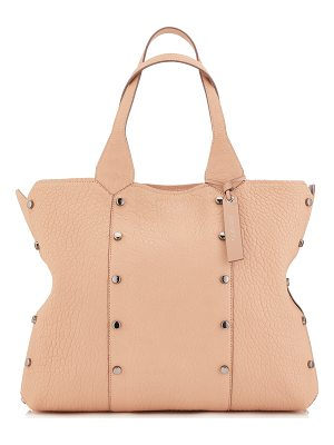 Jimmy Choo LOCKETT SHOPPER Ballet Pink Grainy Leather Tote Bag