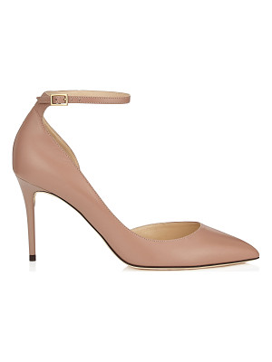 Jimmy Choo LUCY 85 Ballet Pink Kid Leather Pointy Toe Pumps