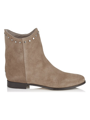 Jimmy Choo MARCO FLAT Light Mocha Suede Ankle Boots