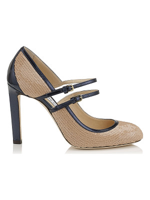 Jimmy Choo MICHA 100 Nude Sequins on Satin Round Toe Pumps