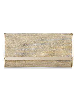 JIMMY CHOO Milla Gold Lamé Glitter Clutch Bag