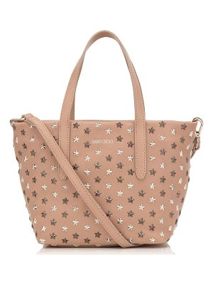 Jimmy Choo MINISARA Ballet Pink Leather with Multi Metal Mix Mini Stars Mini Tote Bag