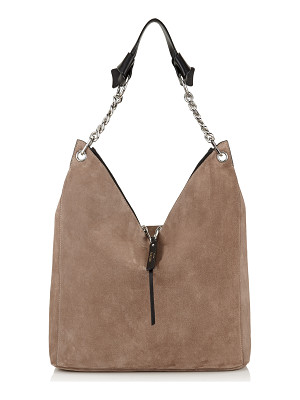 Jimmy Choo RAVEN Light Mocha Suede Shoulder Bag