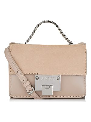 JIMMY CHOO Rebel Soft Mini Ballet Pink Suede And Patent Messenger Bag