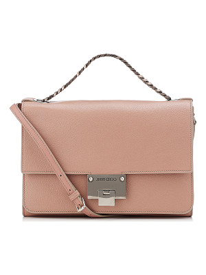 Jimmy Choo REBEL SOFT/S Ballet Pink Soft Grained Leather Messenger Bag