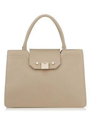 Jimmy Choo REBEL TOTE Chai Soft Grainy Goat Leather Tote Bag