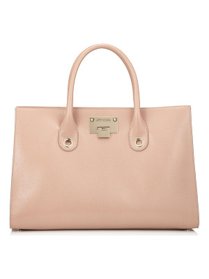 Jimmy Choo RILEY Ballet Pink Soft Grained Leather Tote Bag