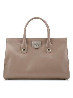 Jimmy Choo RILEY Light Mocha Soft Grained Goat Leather Tote Bag