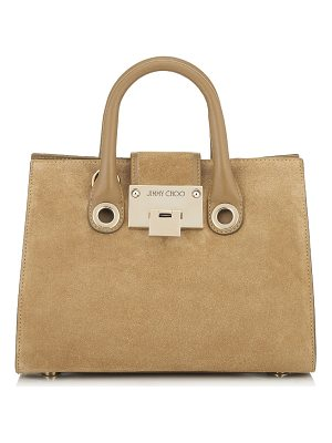 JIMMY CHOO Riley/S Hazel Suede Mini Tote Bag