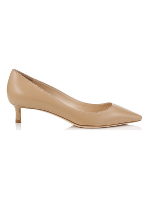 JIMMY CHOO Romy 40 Nude Kid Leather Pointy Toe Pumps
