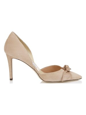 JIMMY CHOO Twinkle 85 Ballet Pink Suede And Kid Leather Pointy Toe Pumps