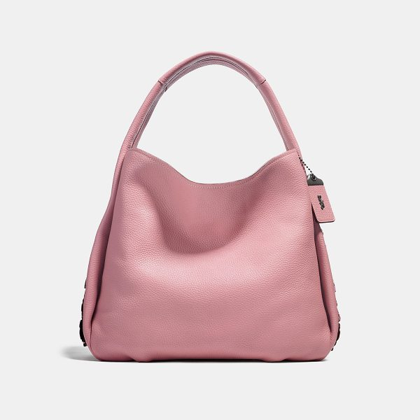 COACH bandit hobo 39 with tea rose detail - Armed and ready: the Bandit comes packing with a secret...