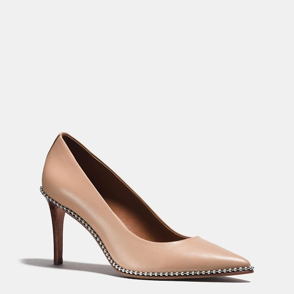 COACH beadchain pump - Unexpected beadchain detail and smooth leather customize...