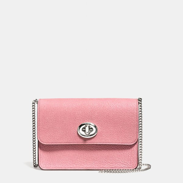 COACH bowery crossbody - With its boxy shape and curb chain strap, this petite bag