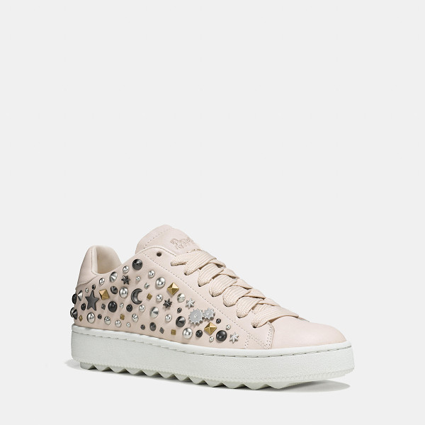 COACH c101 with allover studs - Inspired by vintage tennis trainers, this plush new classic...