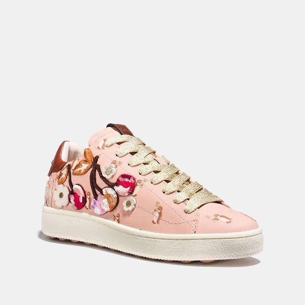 COACH c101 with cherry patches - Inspired by classic tennis trainers, our signature leather...