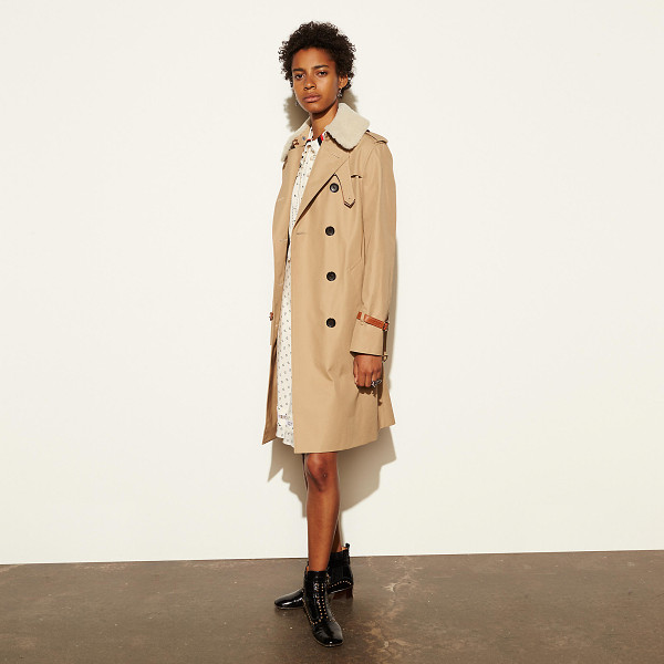 COACH classic animated trench - Our classic long trench returns for the season with rich...