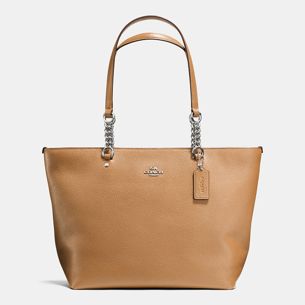 COACH sophia tote - Crafted in plump pebble leather developed exclusively for...