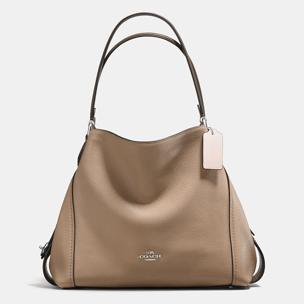 COACH colorblock edie shoulder bag 31 - Edie combines downtown ease with utility. Subtle...