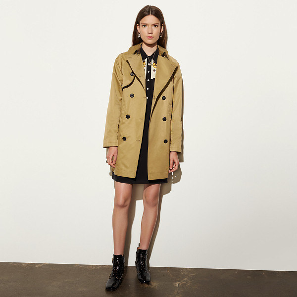 COACH cotton convertible trench - A favorite for repelling rain and chill for almost a...