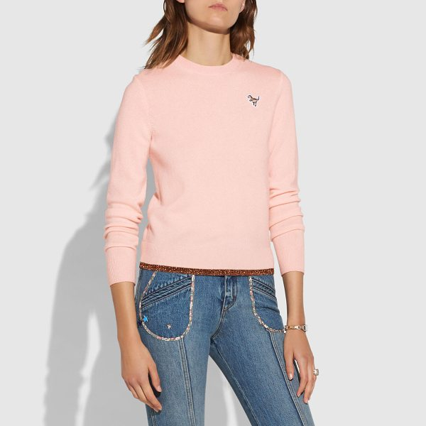 COACH crewneck sweater - An American classic reimagined with a twist. This...