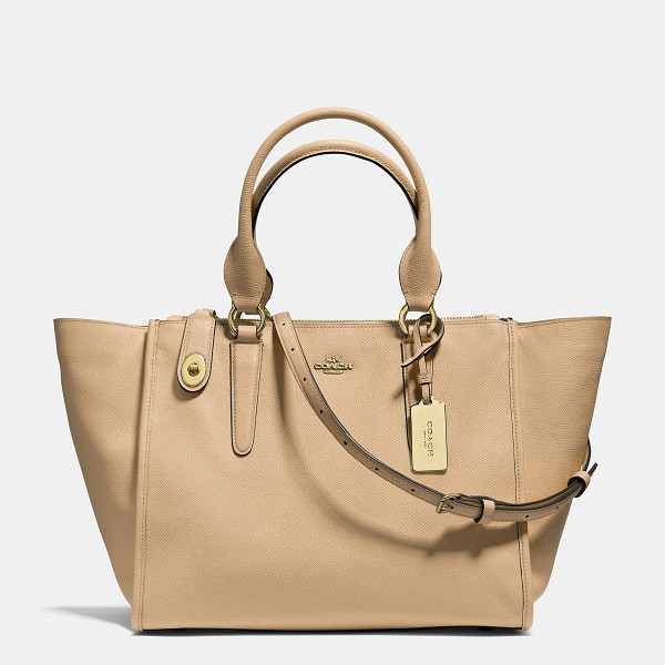 COACH crosby carryall - Updated in Crossgrain Leather with a subtle texture and...