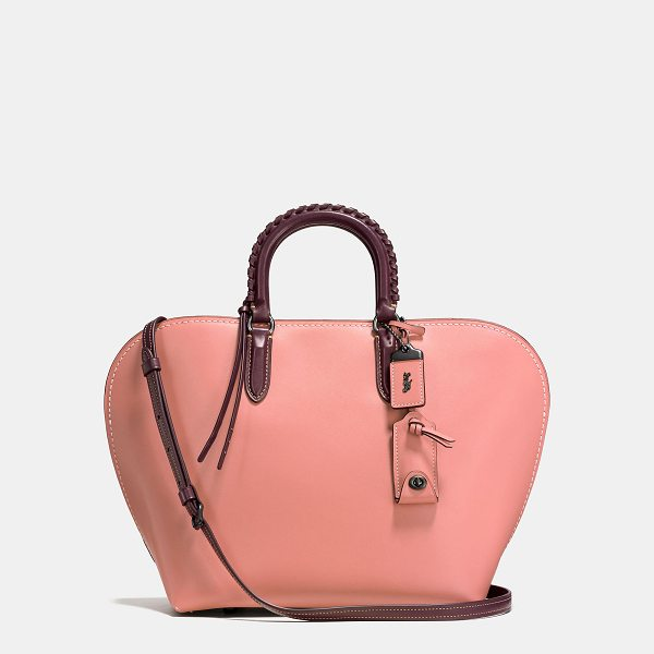 COACH dakotah satchel with whipstitch handle - A curved shape based on 1960s bowling bags, the Dakotah is...