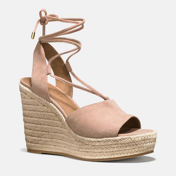 COACH dana espadrille - Crafted in velvety suede and tied up with soft lacing,