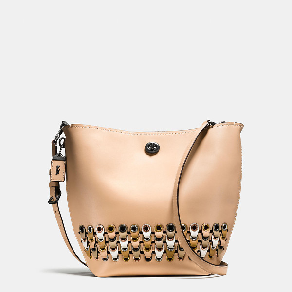 COACH duffle shoulder bag with link detail - An iconic Coach silhouette first introduced in 1971, the...