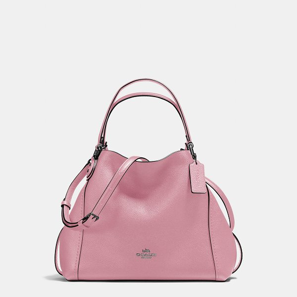 COACH edie shoulder bag 28 - Edie combines downtown ease with utility. Soft and slouchy...
