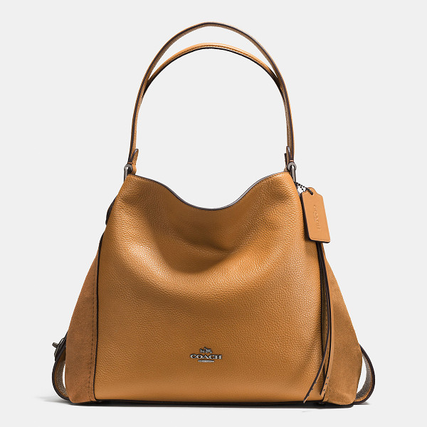 COACH edie shoulder bag 31 - Edie combines downtown ease with utility. The soft, slouchy