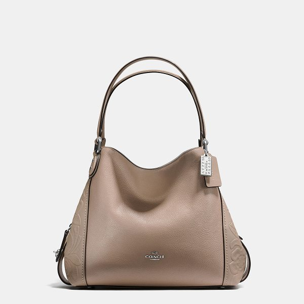 COACH edie shoulder bag 31 with tea rose tooling - Edie combines downtown ease with utility. This bag is...