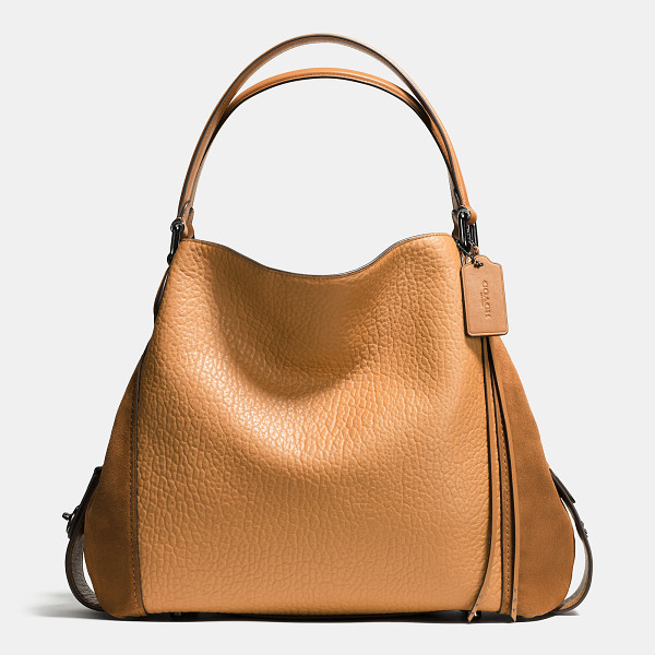 COACH edie shoulder bag 42 - Edie combines downtown ease with utility. A tonal mix of...