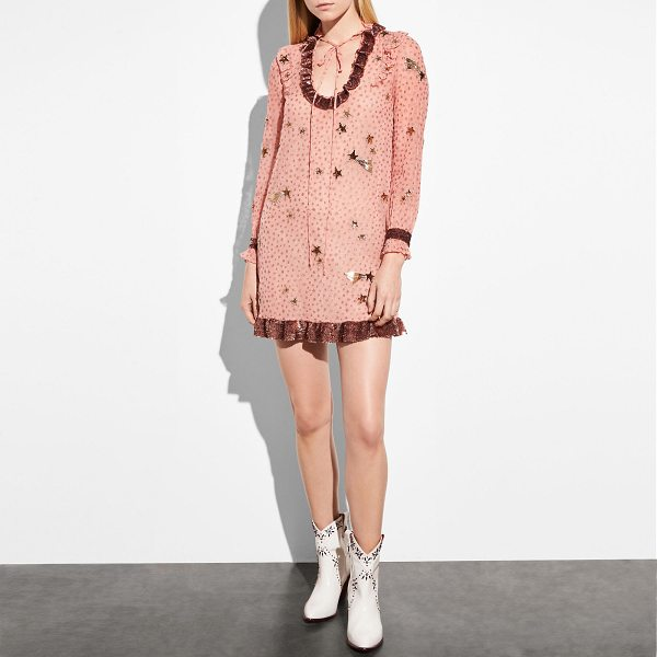 COACH embellished outerspace print dress - Twinkle, twinkle: This playful mini dress is crafted of...