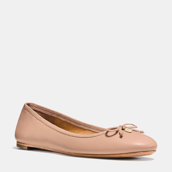 COACH flatiron flat - This sophisticated update of the classic ballet flat...