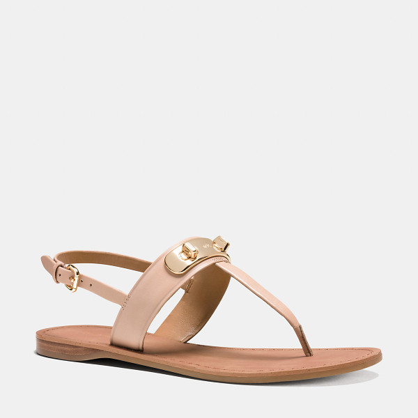 COACH gracie swagger sandal - Brightly polished double-turnlock hardware borrowed from...